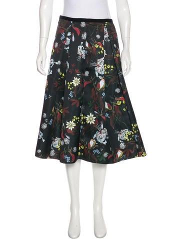 Floral Print Knee-Length Skirt