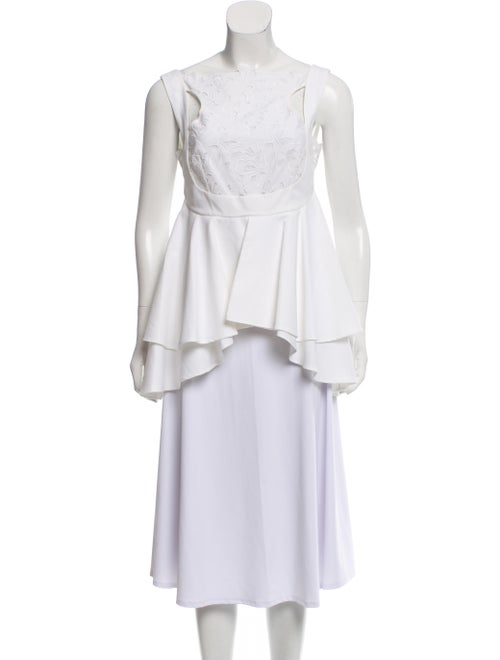 Erdem Britney Lace-Accented Top White