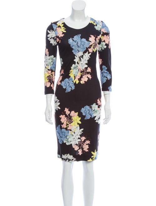 Erdem Floral Midi Dress Black