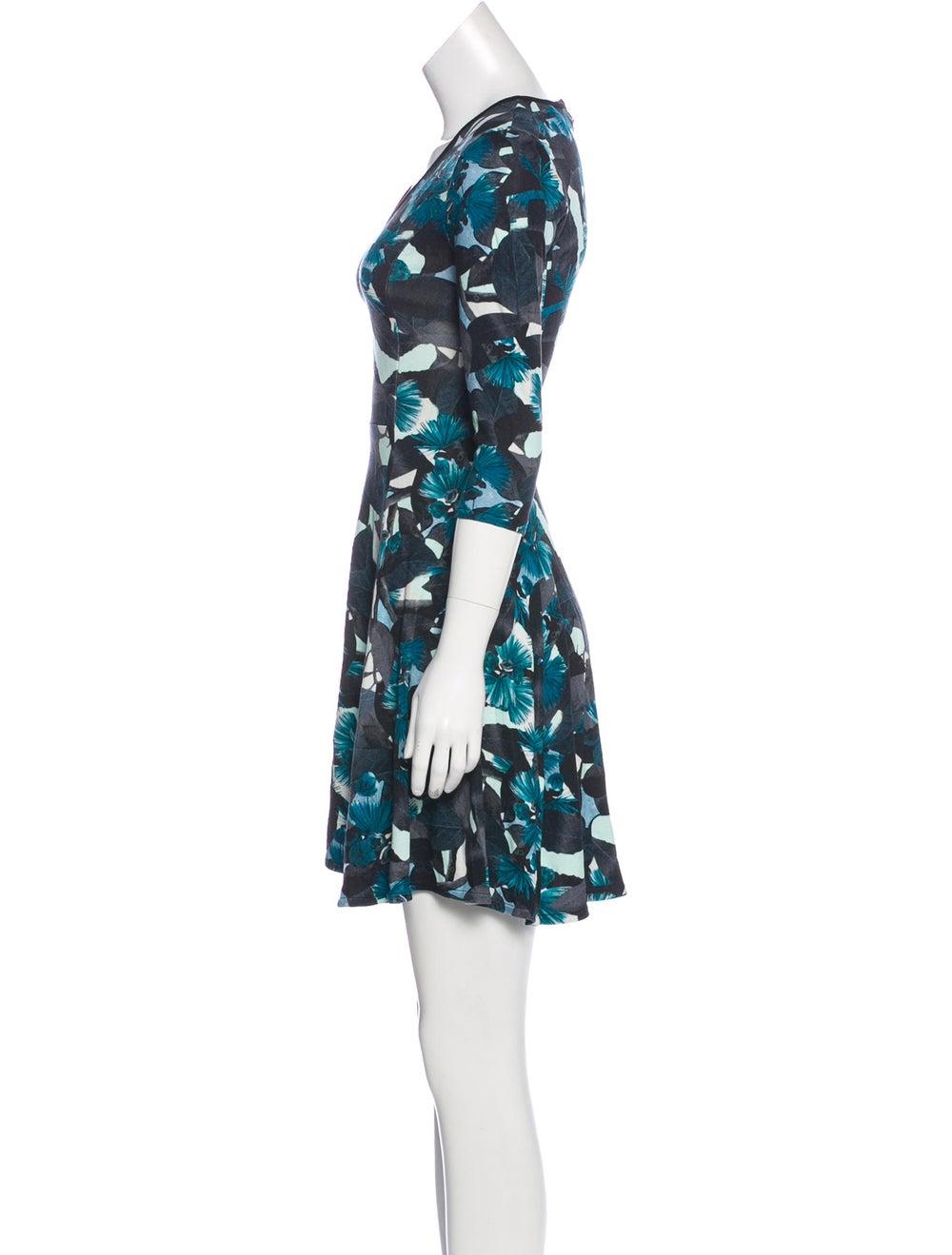 Erdem Floral Flared Dress Blue - image 2
