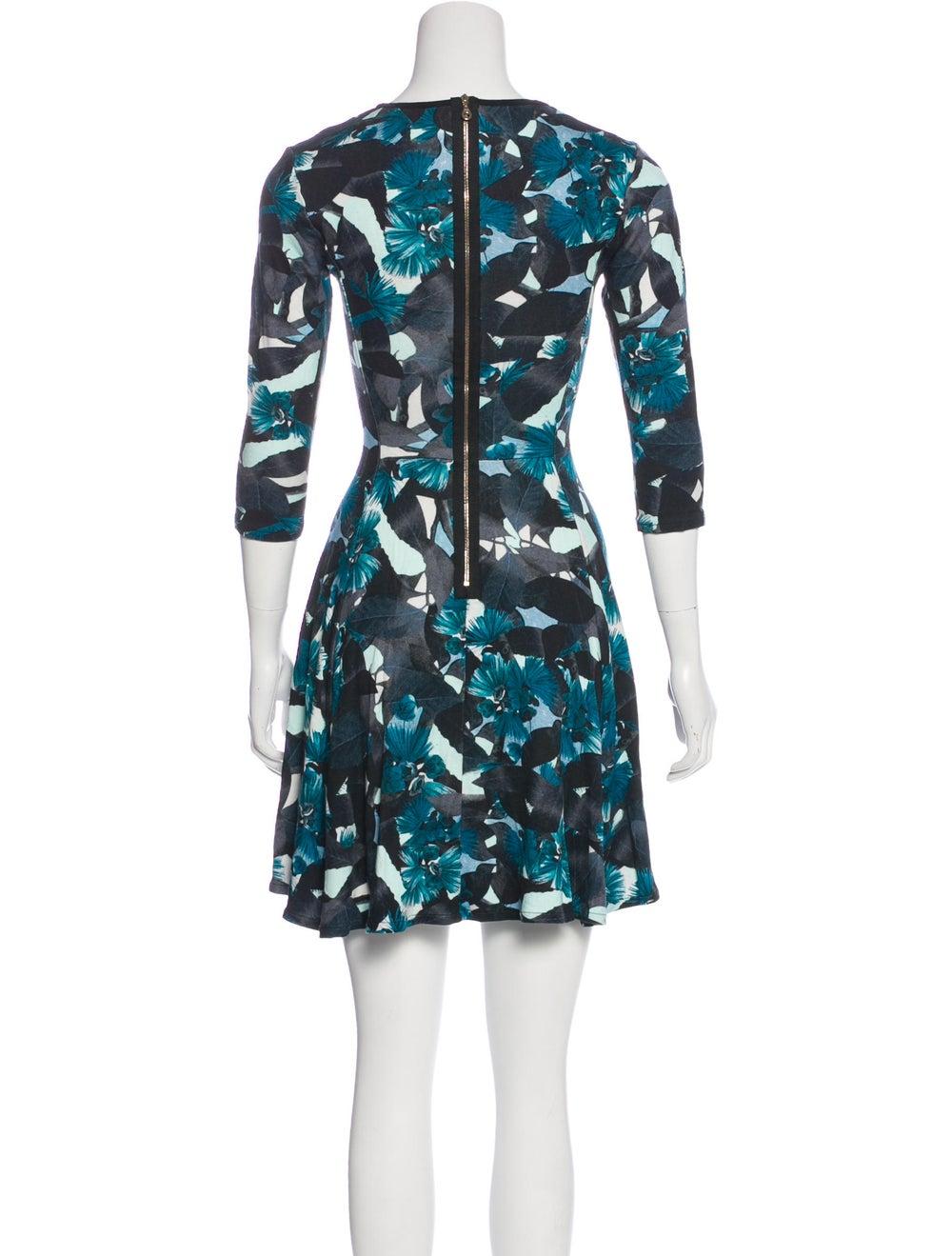Erdem Floral Flared Dress Blue - image 3