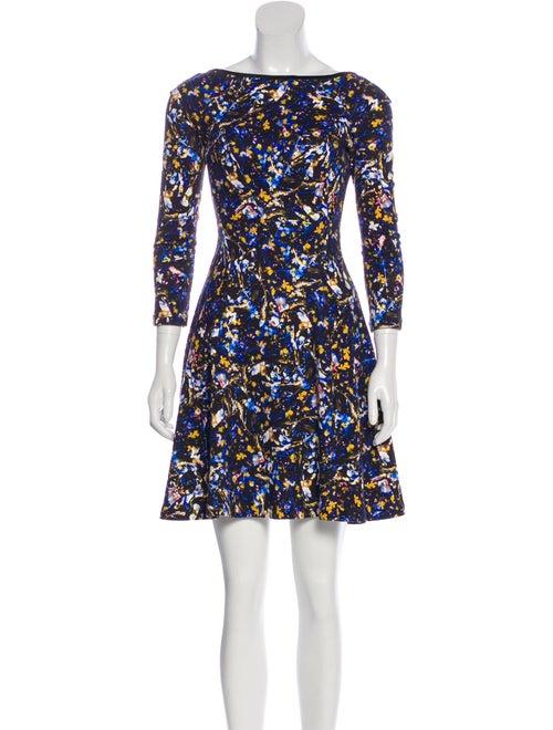 Erdem Floral Print Jersey Dress Black