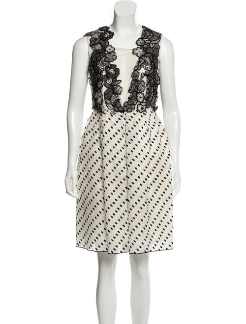 Erdem Silk Embellished Dress White