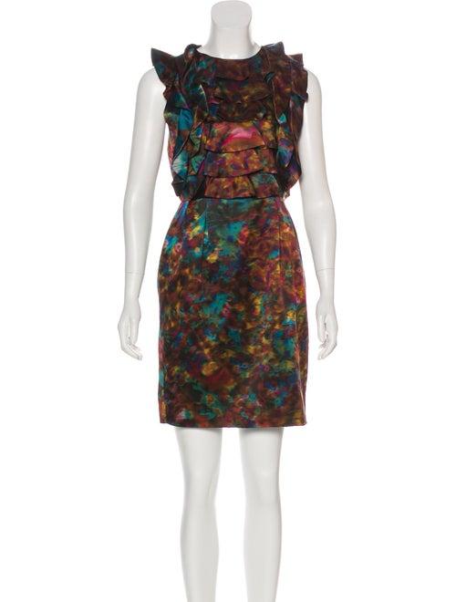 Erdem Tie-Dye Silk Dress Brown