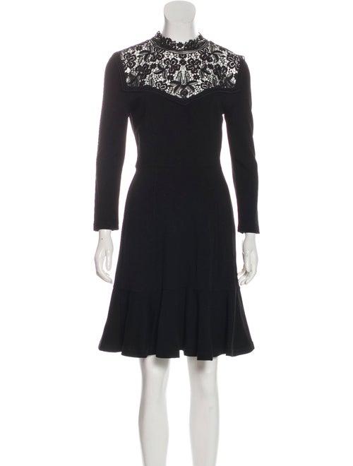 Erdem Knee-Length Flared Dress Black