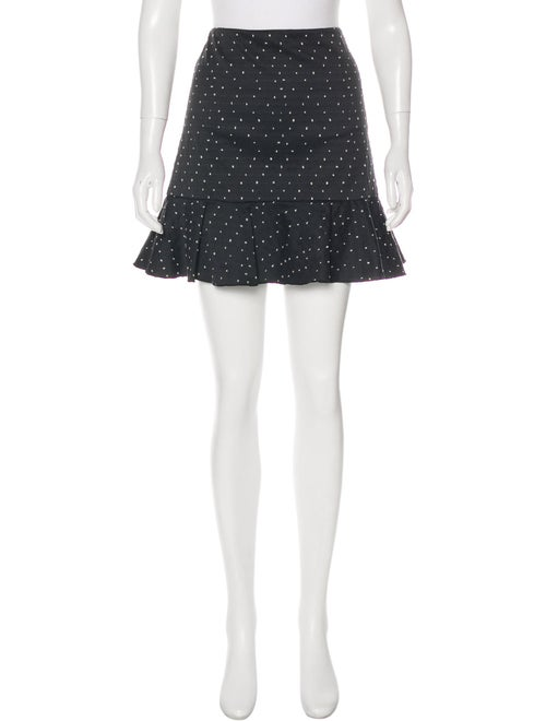 Erdem Swiss Dot Flute Skirt Black
