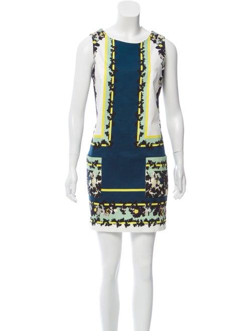 Erdem Sleeveless Printed Mini Dress White