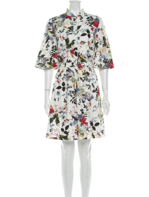 Erdem Floral Print Mini Dress White