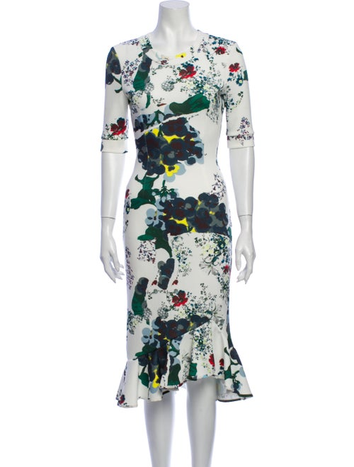 Erdem Floral Print Midi Length Dress