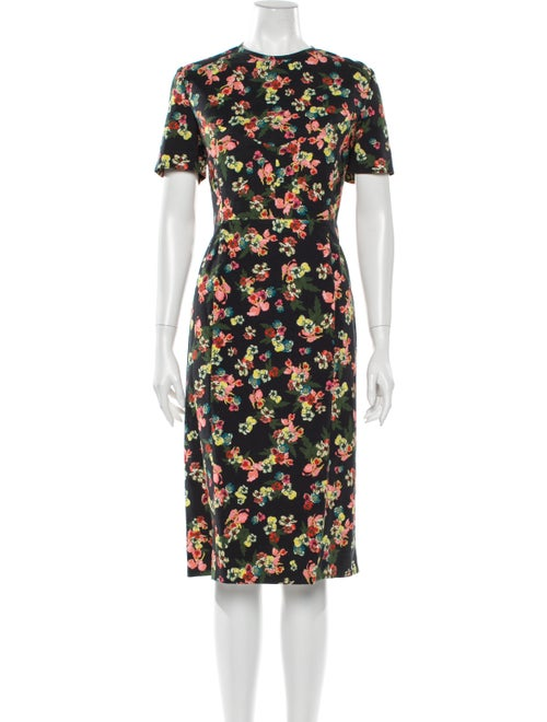 Erdem Inis Midi Length Dress Blue