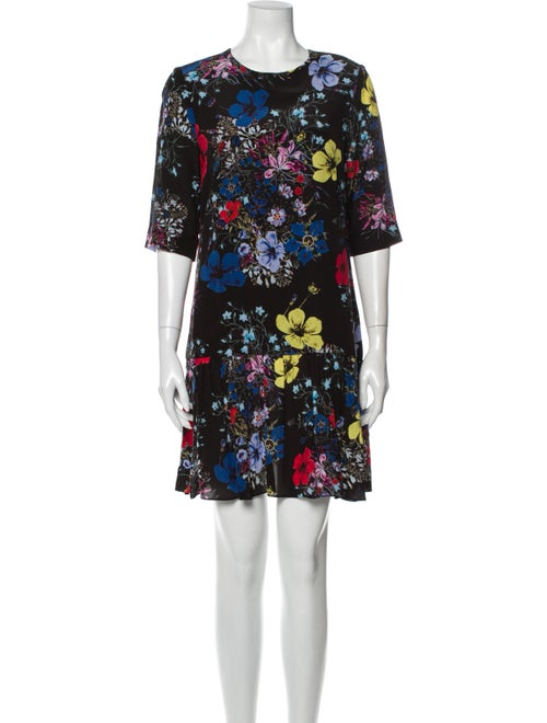 Erdem Silk Mini Dress Black - image 1