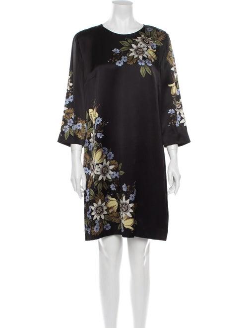 Erdem Silk Mini Dress Black