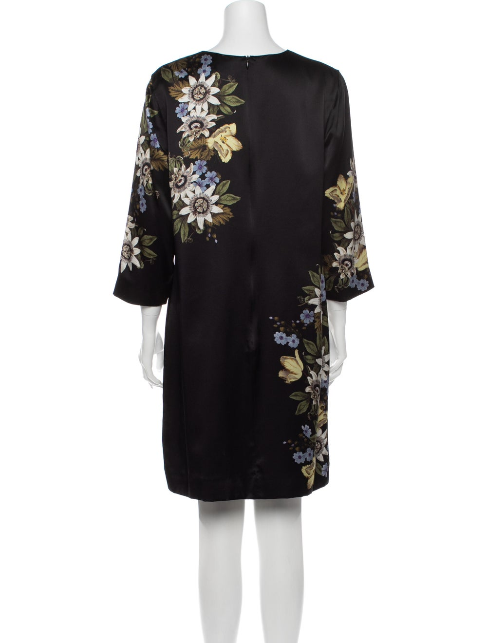 Erdem Silk Mini Dress Black - image 3