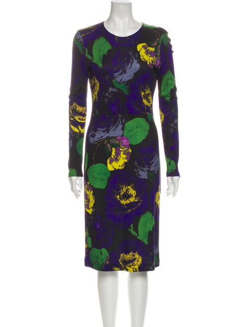 Erdem Printed Midi Length Dress Blue - image 1