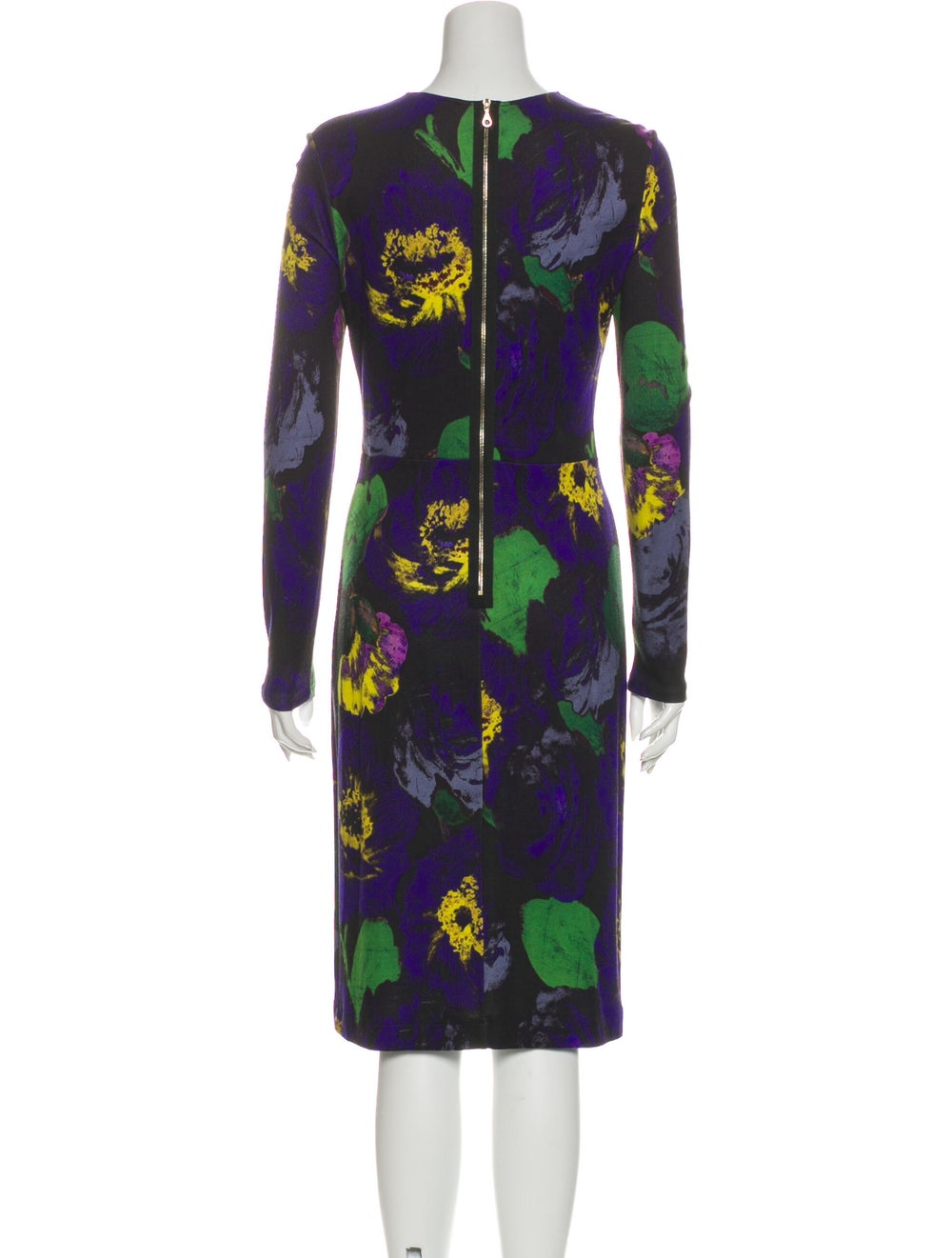 Erdem Printed Midi Length Dress Blue - image 3