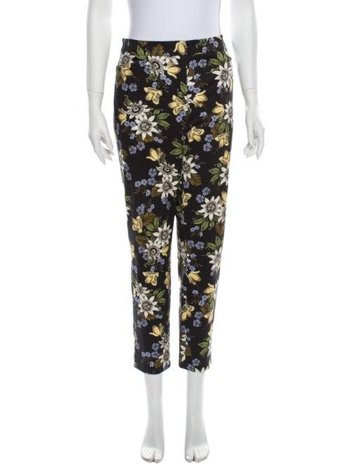 Erdem Floral Print Straight Leg Pants Black - image 1