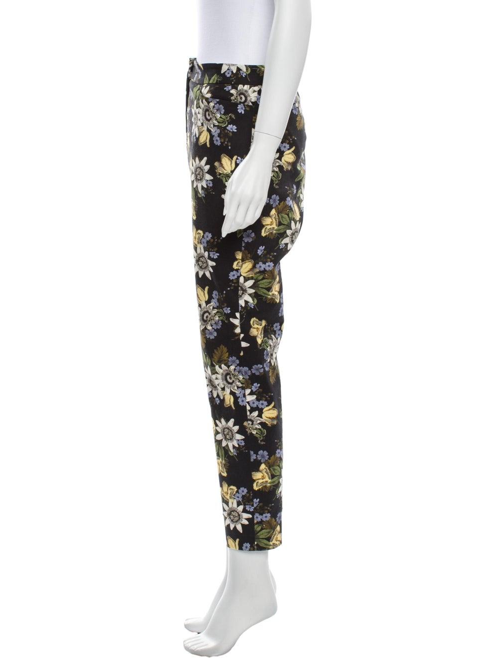 Erdem Floral Print Straight Leg Pants Black - image 2