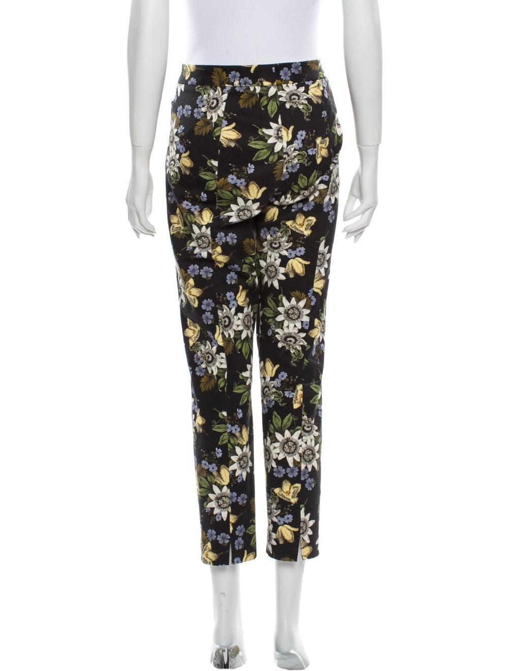 Erdem Floral Print Straight Leg Pants Black - image 3