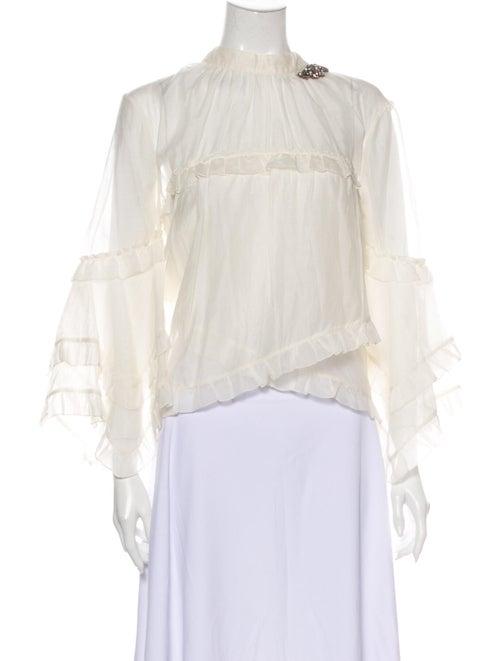 Erdem Rexana Silk Blouse White