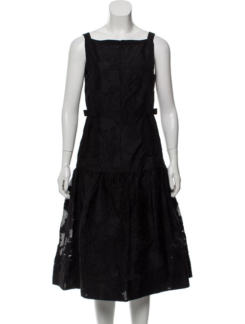 Erdem Jacquard Midi Dress Black