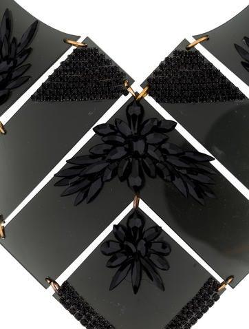 Geometric Crystal Bib Necklace
