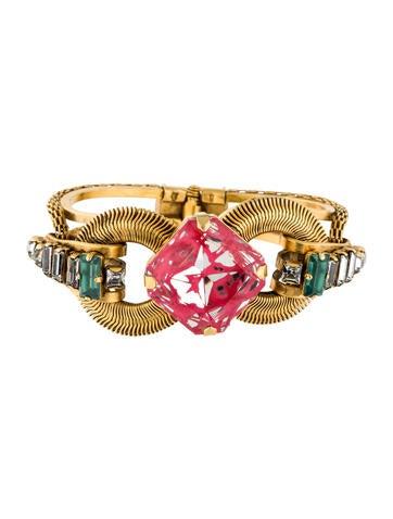 Erickson Beamon Mirrored Crystal Cuff Bracelet