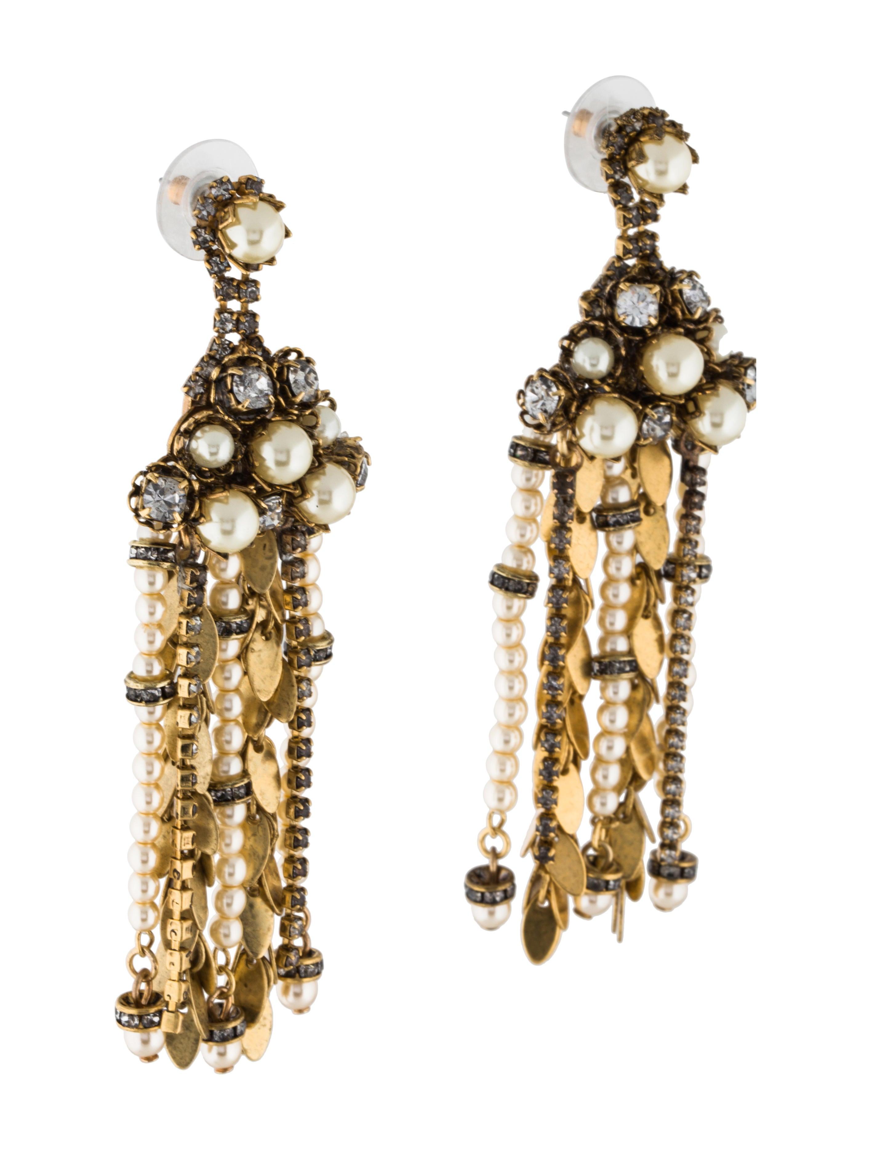 Erickson beamon aerin crystal faux pearl chandelier earrings aerin crystal faux pearl chandelier earrings arubaitofo Gallery