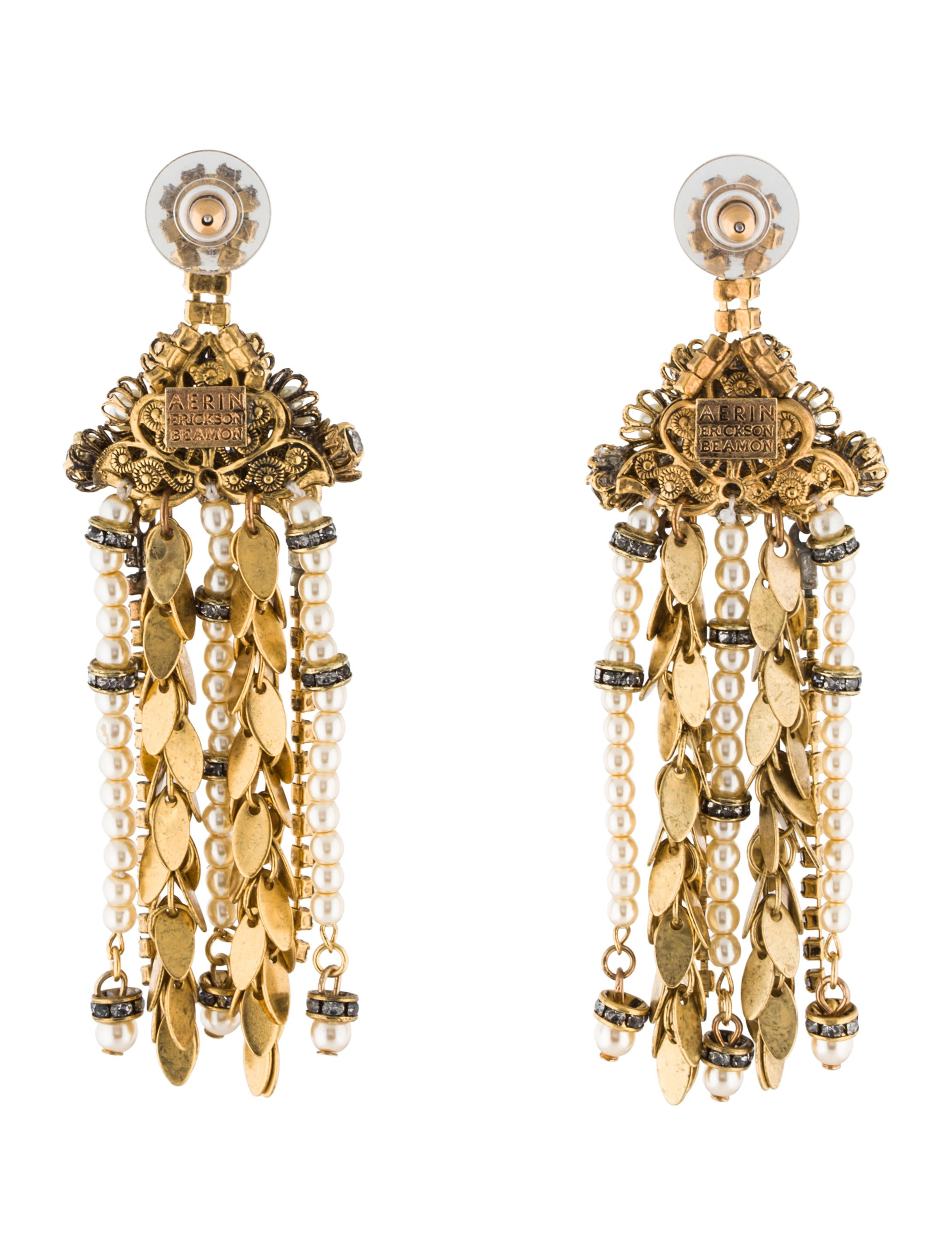 Erickson beamon aerin crystal faux pearl chandelier earrings aerin crystal faux pearl chandelier earrings arubaitofo Image collections