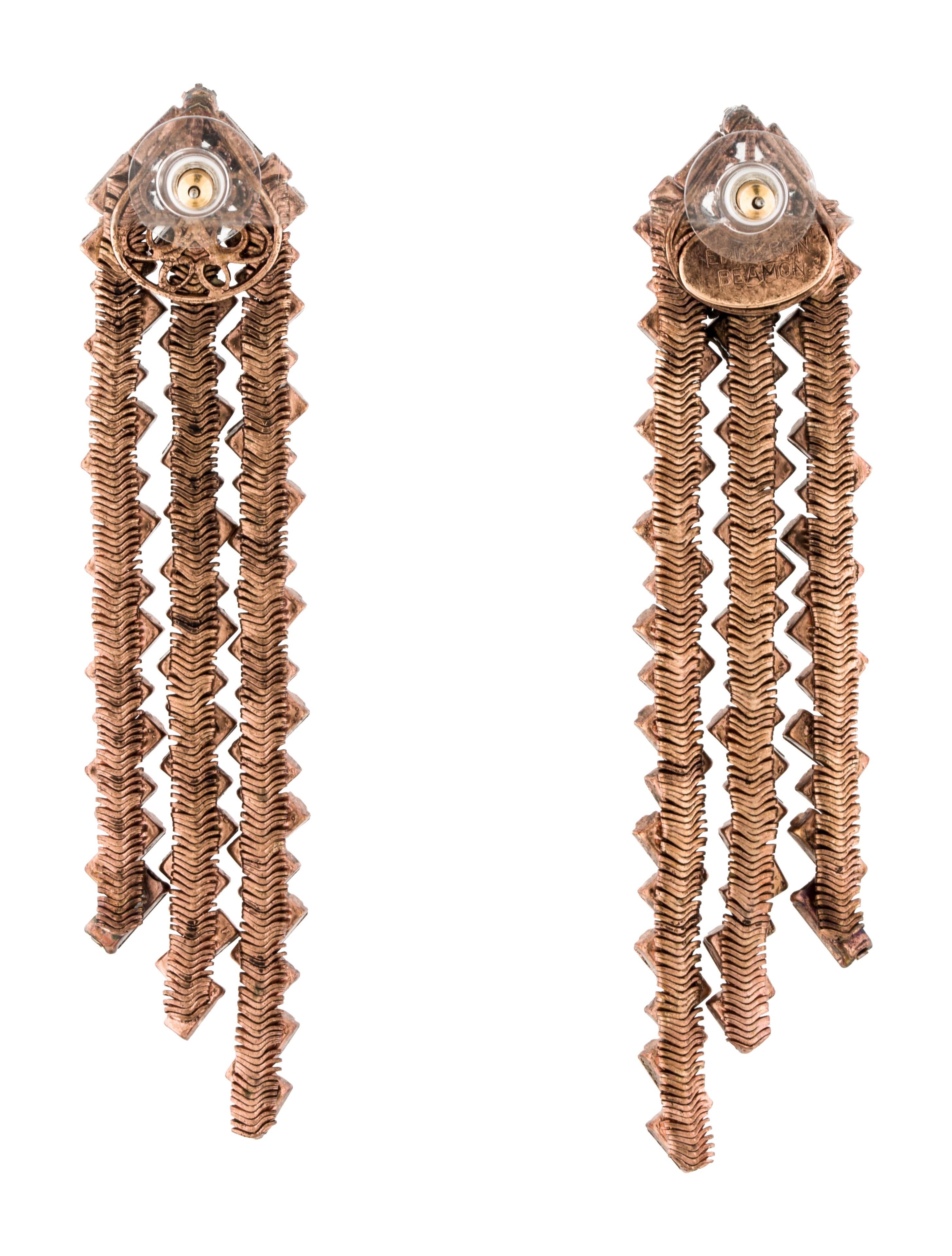 erickson beamon drop earrings earrings