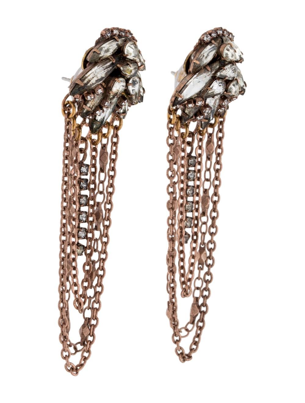 Erickson Beamon Crystal Chain Chandelier Earrings… - image 3