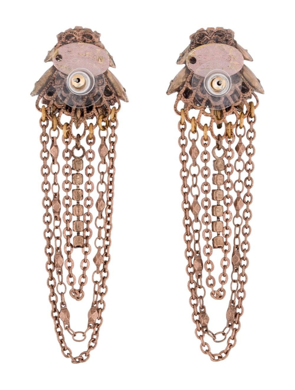 Erickson Beamon Crystal Chain Chandelier Earrings… - image 4