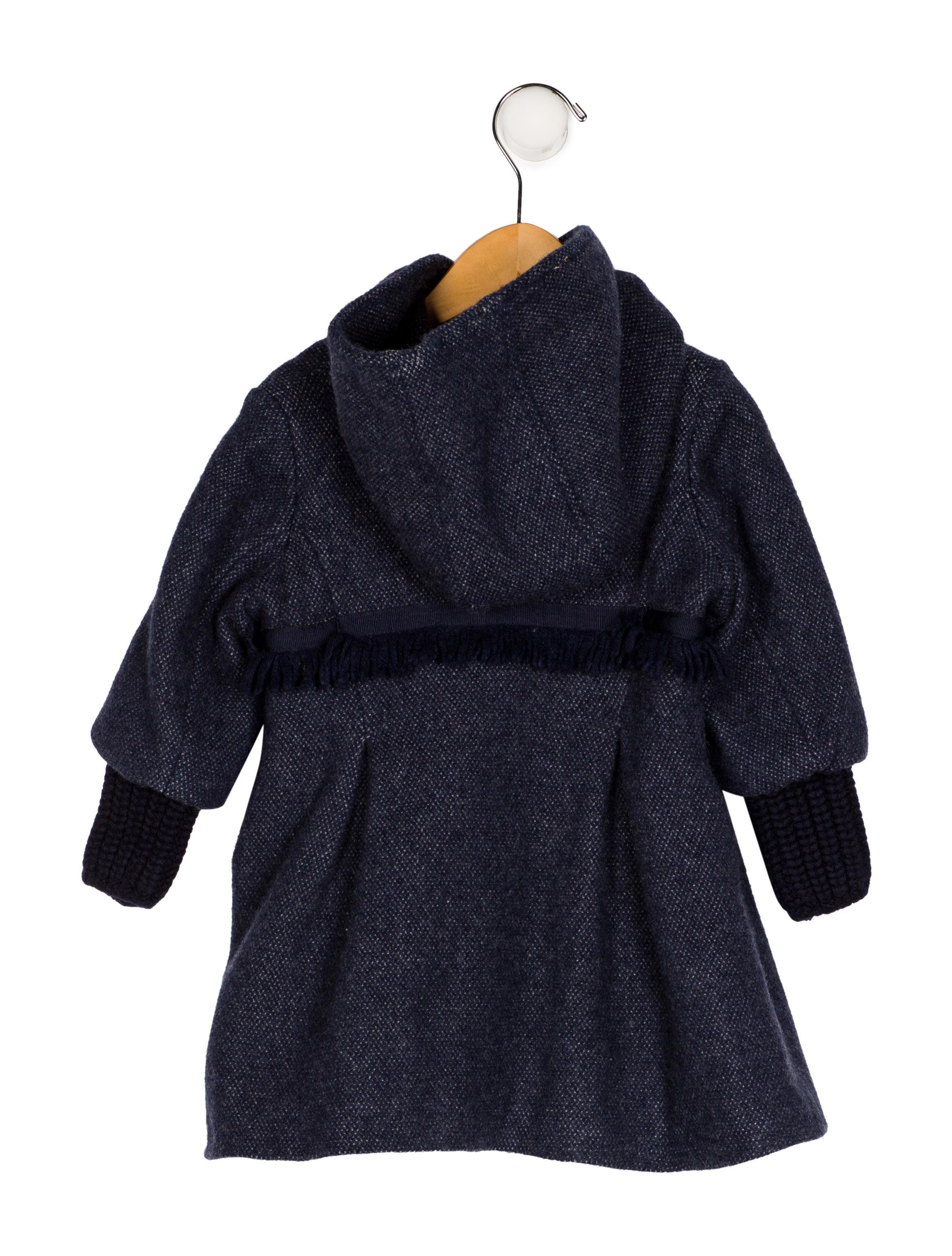 90eff50270653 Ermanno Scervino Girls  Hooded Fringe-Trimmed Coat - Girls ...