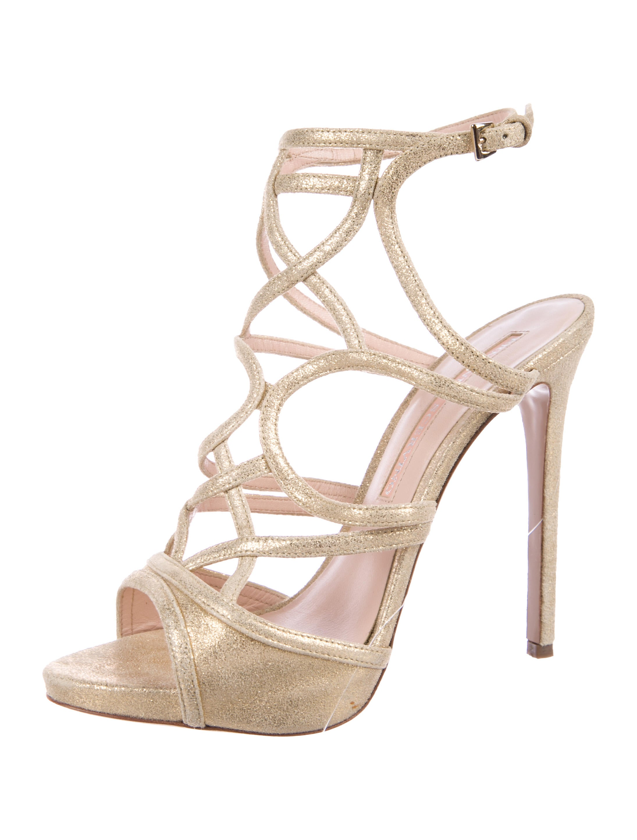 Ermanno Scervino Metallic Multistrap Sandals cheap sale tumblr free shipping with credit card sale with paypal largest supplier cheap price cheap footlocker Hug2O8