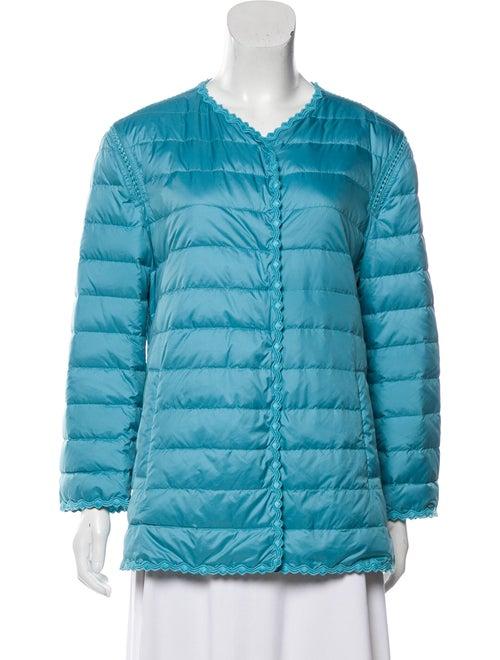 Ermanno Scervino Down Quilted Jacket Blue