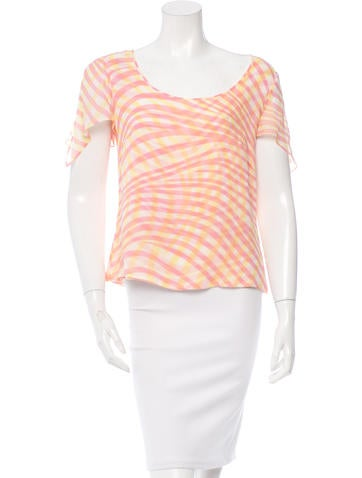 Escada Printed Silk Top