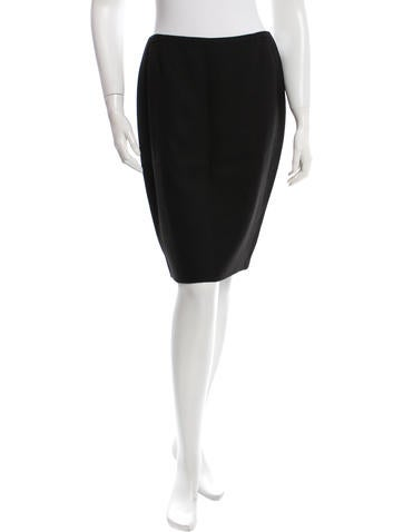 Escada Wool-Blend Knee-Length Skirt