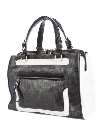 Leather Colorblock Tote