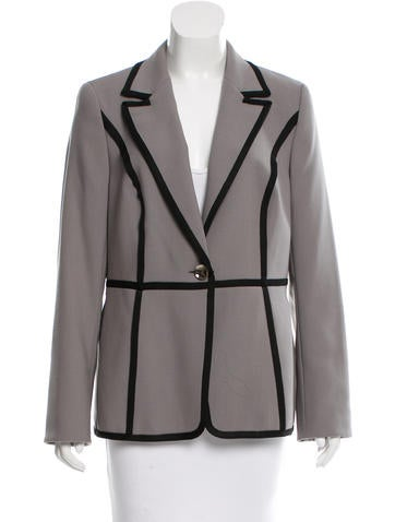 Escada Virgin Wool Single-Button Blazer w/ Tags None
