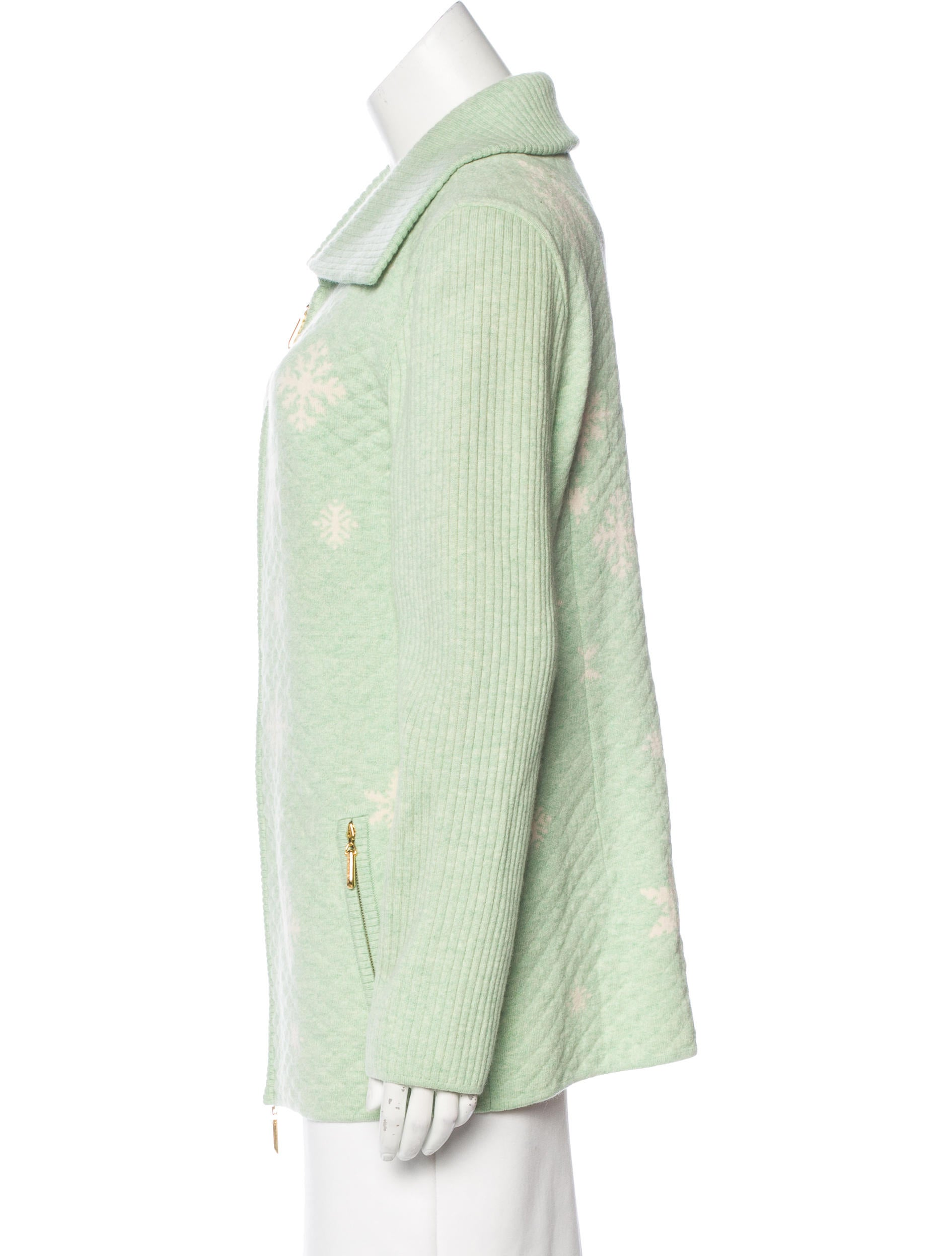 Escada Wool Quilted Jacket W Tags Clothing Esc22198