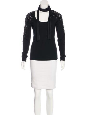 Escada Wool & Silk-Blend Sweater w/ Tags None
