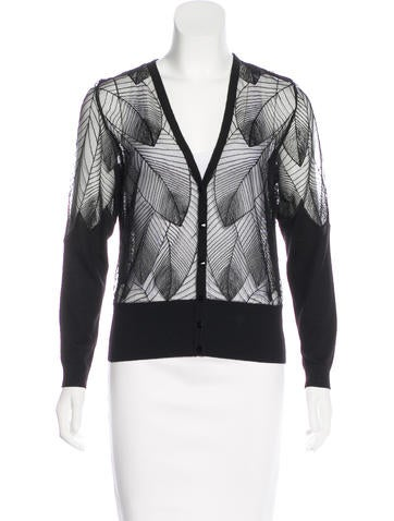 Escada Semi-Sheer Embroidered Cardigan None