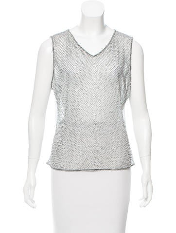 Escada Sleeveless Embellished Top w/ Tags None