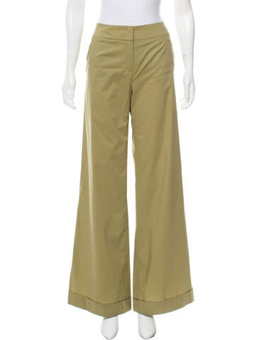 Escada Mid-Rise Wide-Leg Pants w/ Tags Professional Outlet Top Quality Buy Cheap New Best Supplier Hot v3BIqaC2ru