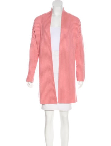 Escada Open Front Rib Knit Cardigan None