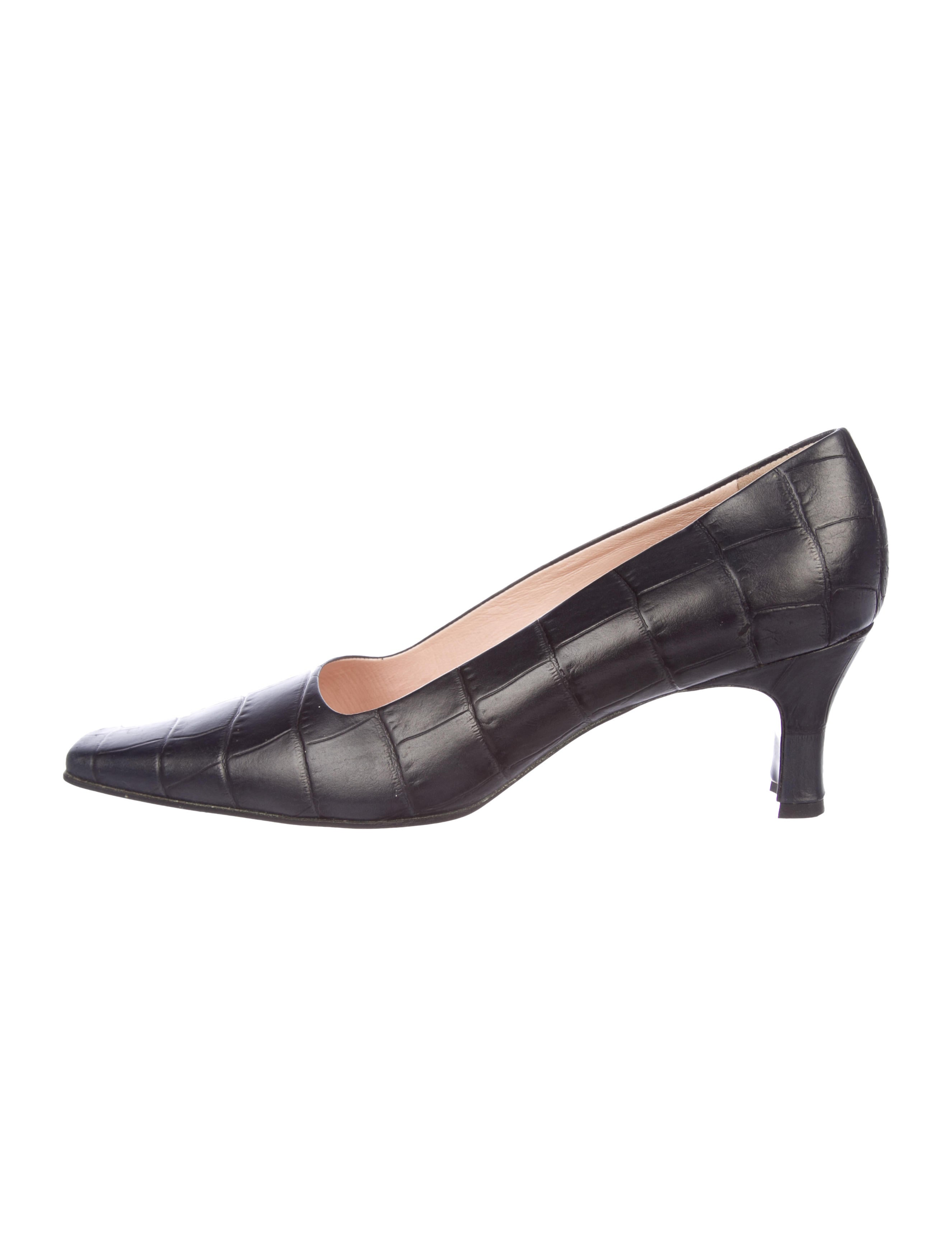 sale exclusive discount original Tod's Embossed Square-Toe Pumps cheap recommend 4M6hRBHu
