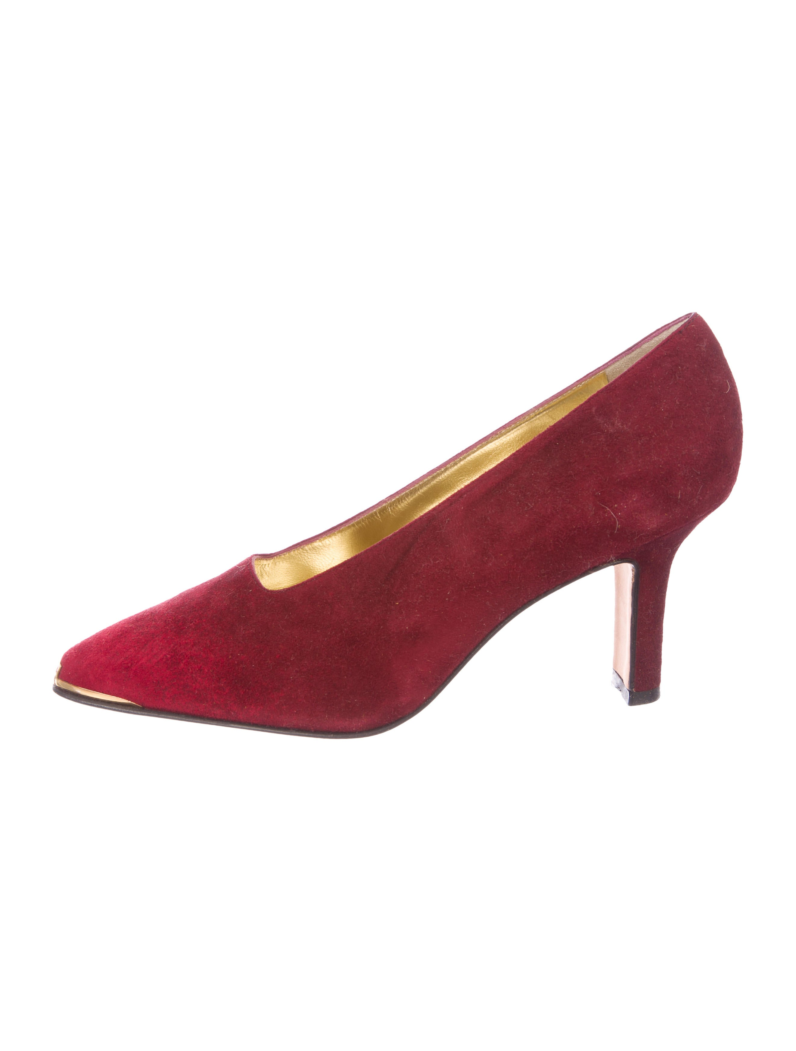Escada Suede Pointed-Toe Pumps from china low shipping cheap online find great online newest online sneakernews ROvLnU