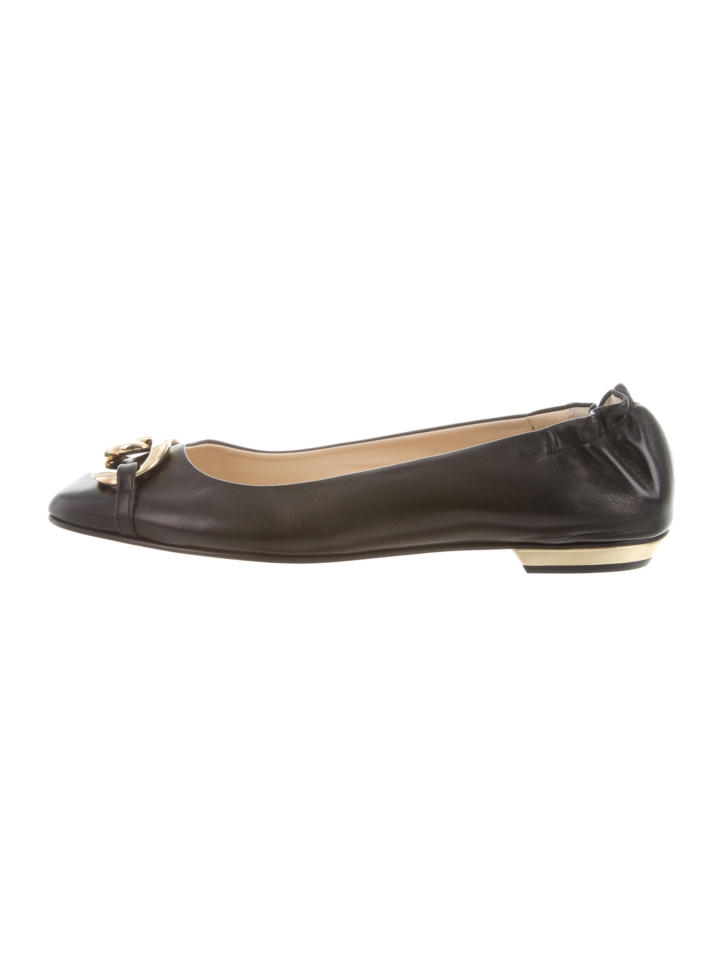 Escada Leather Chain-Link Flats buy cheap collections clearance limited edition LHMECvcsXm