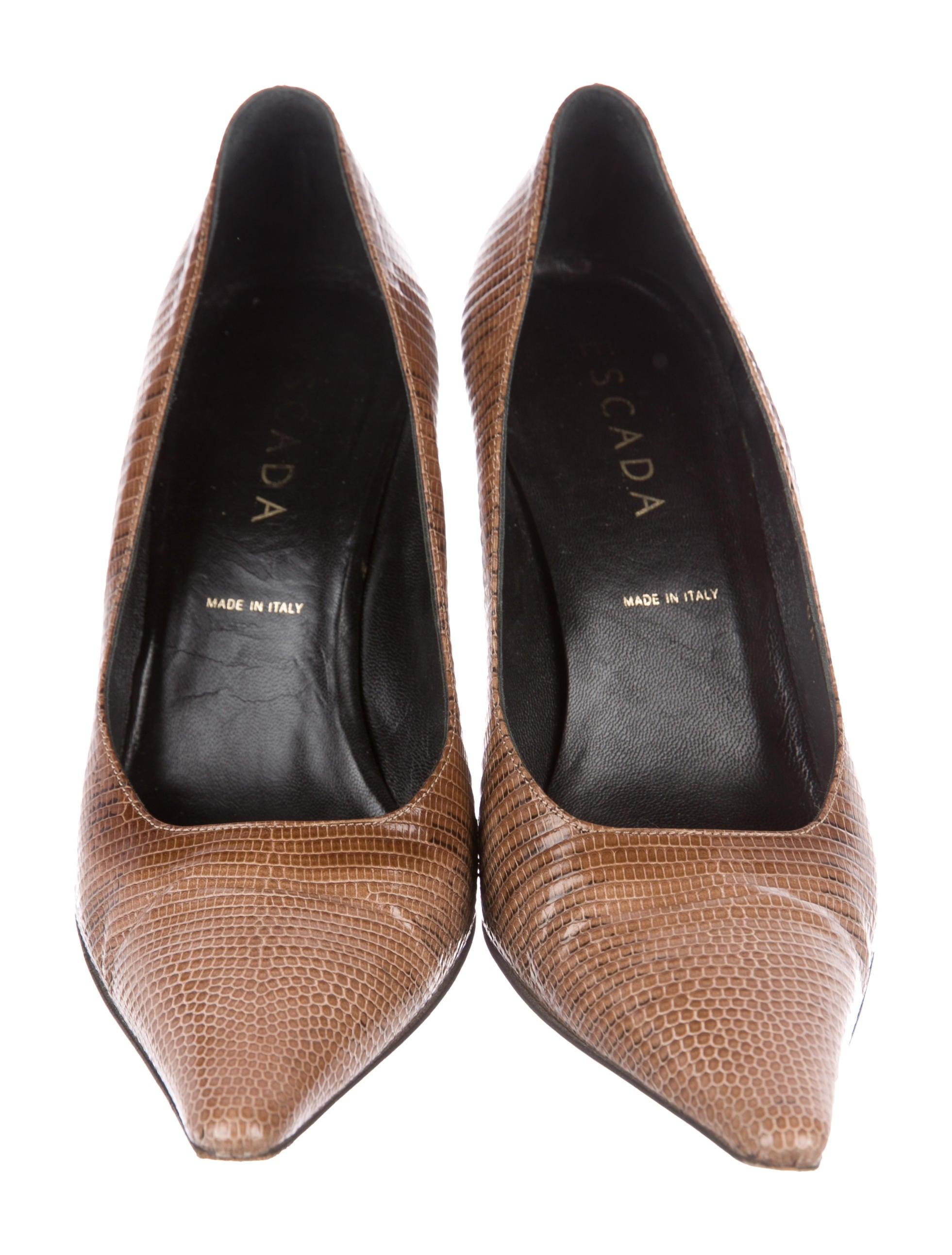 Escada Embossed Square-Toe Pumps cheap low shipping buy cheap get to buy buy cheap sast clearance 100% guaranteed buy cheap store jDJebgT3Z