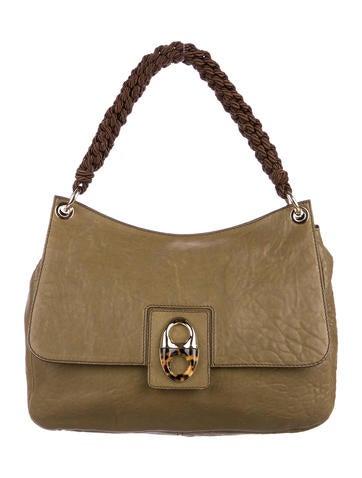 5a370522c36f Michael Michael Kors Leather-Trimmed Raffia Shoulder Bag - Handbags ...