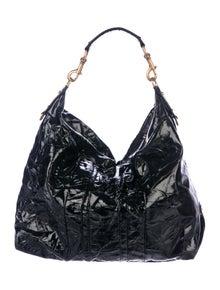 afa3b9f56b9c Escada. Patent Leather Shoulder Bag